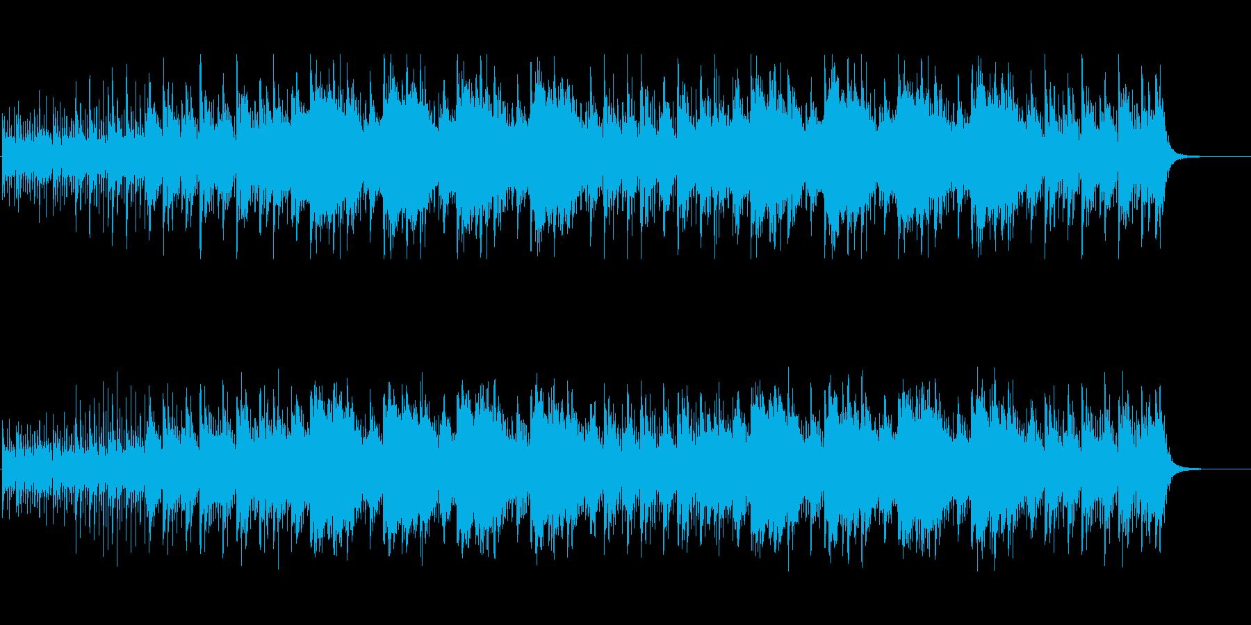 力強い太鼓と不穏なストリングスの再生済みの波形