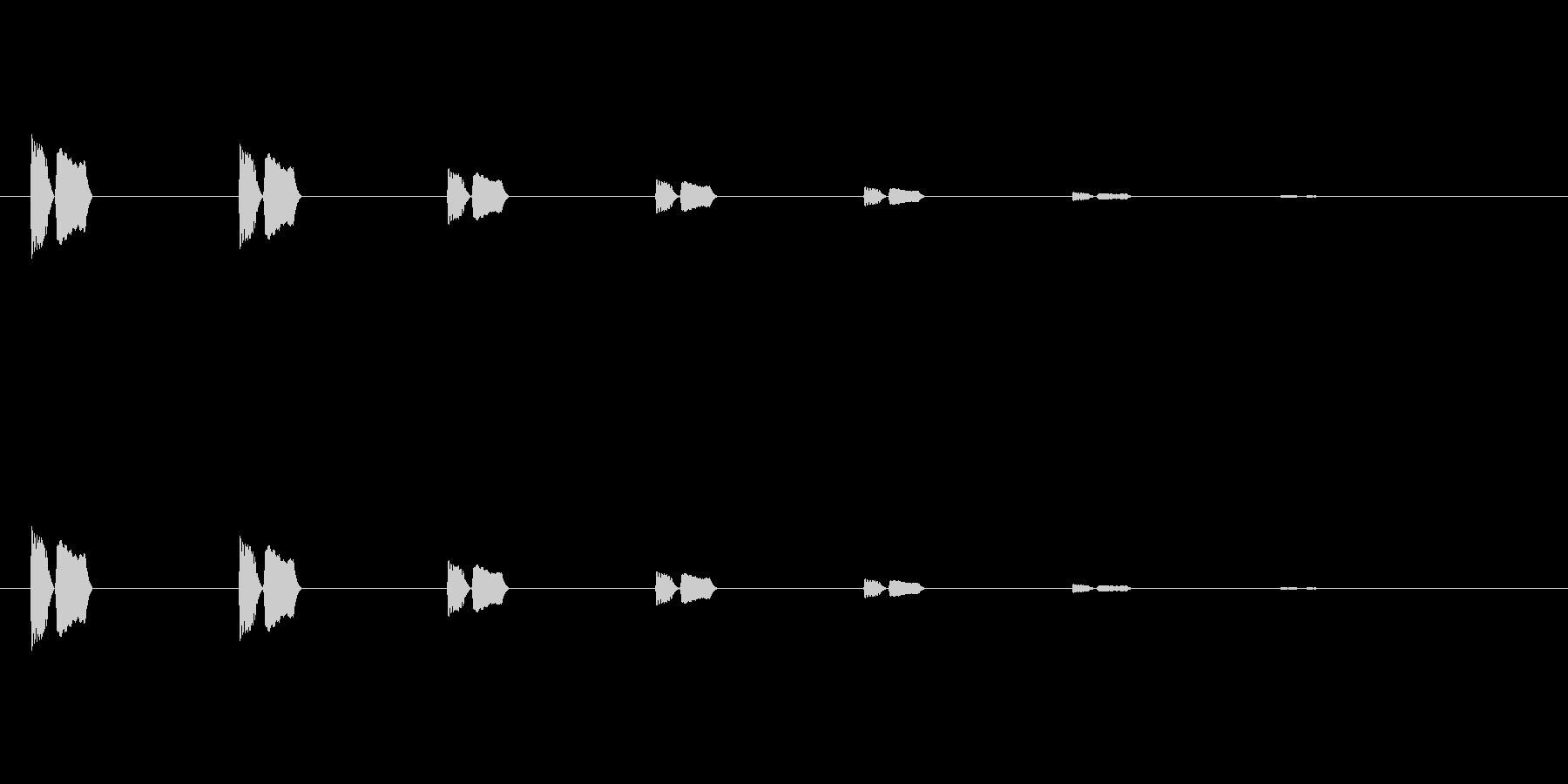【アクセント22-2】の未再生の波形