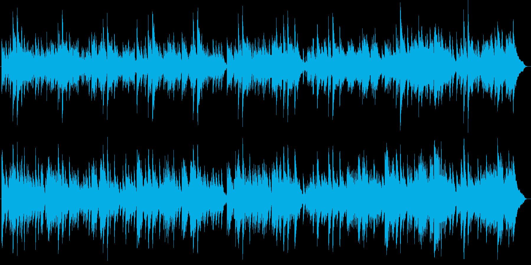幻想的で綺麗なピアノBGM10の再生済みの波形