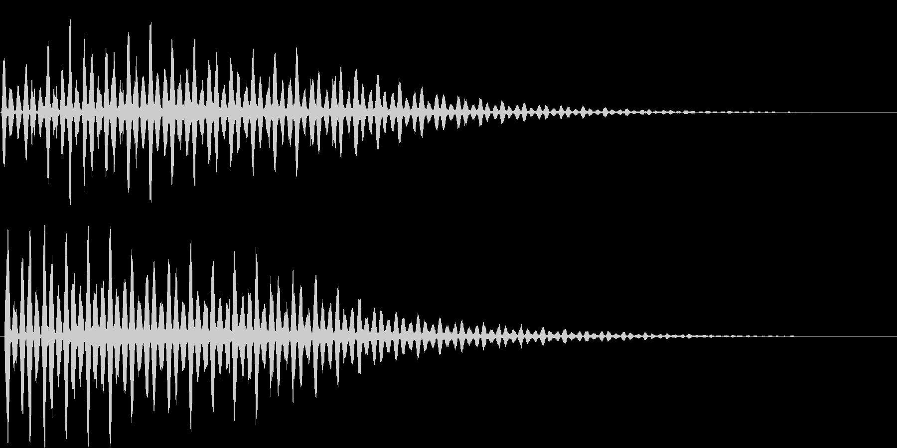 ワープ時の音の未再生の波形