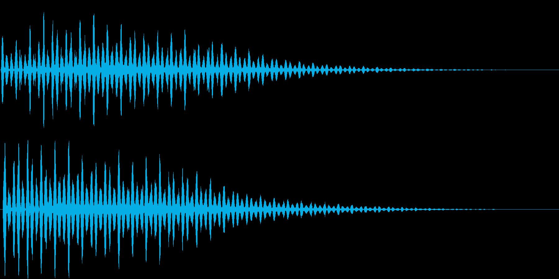 ワープ時の音の再生済みの波形