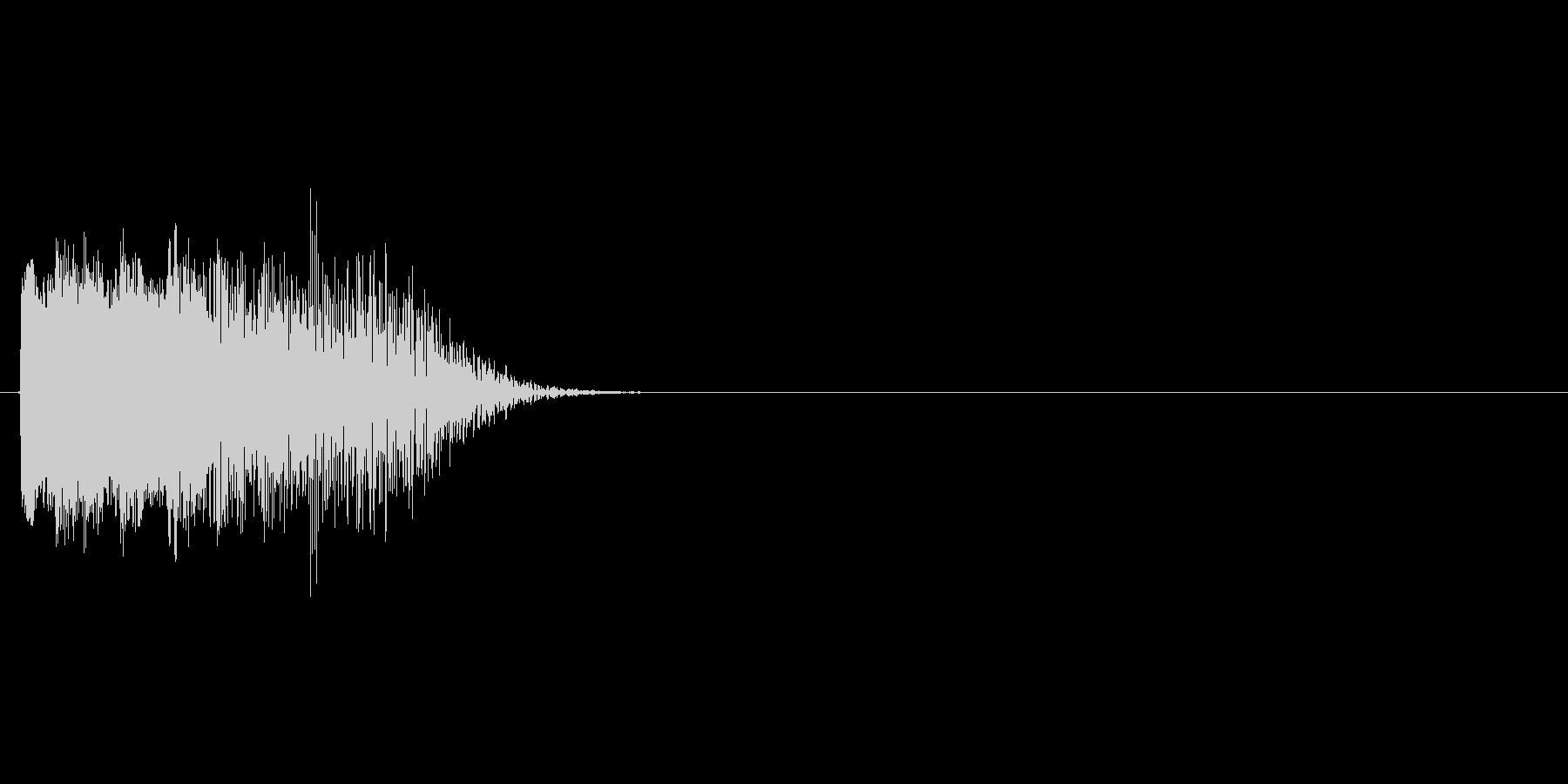 シンセ系の場面転換に使える効果音(下降)の未再生の波形