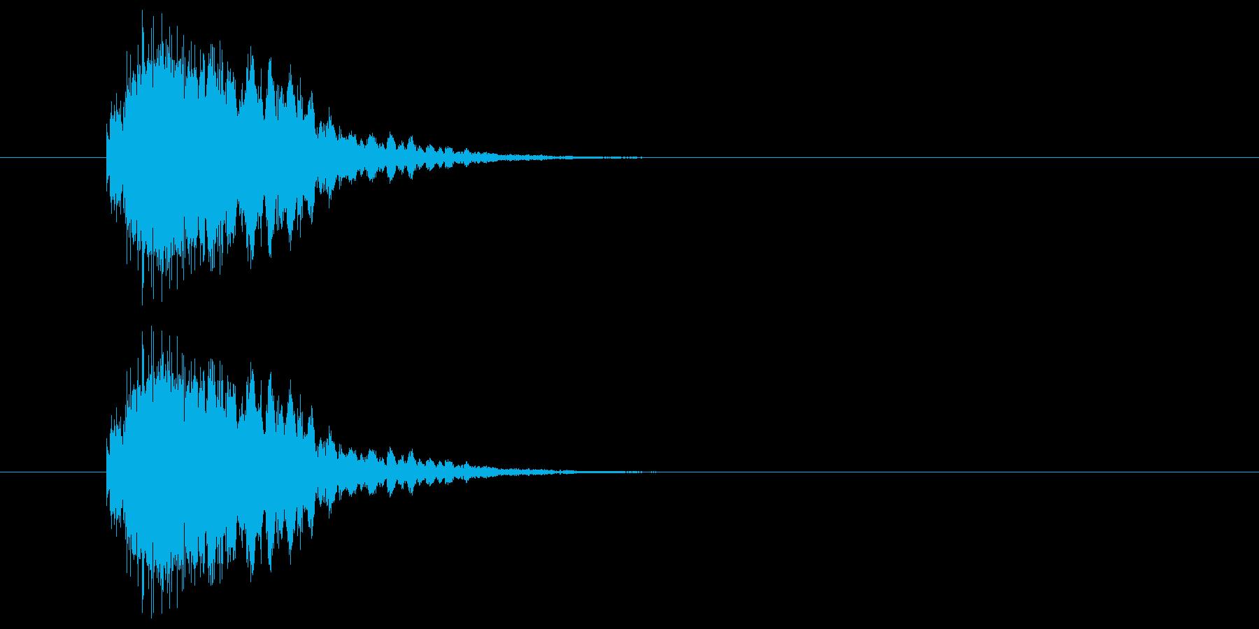 マシン稼働の再生済みの波形