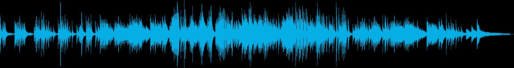 わらべ歌のような和風音楽-ピアノソロの再生済みの波形