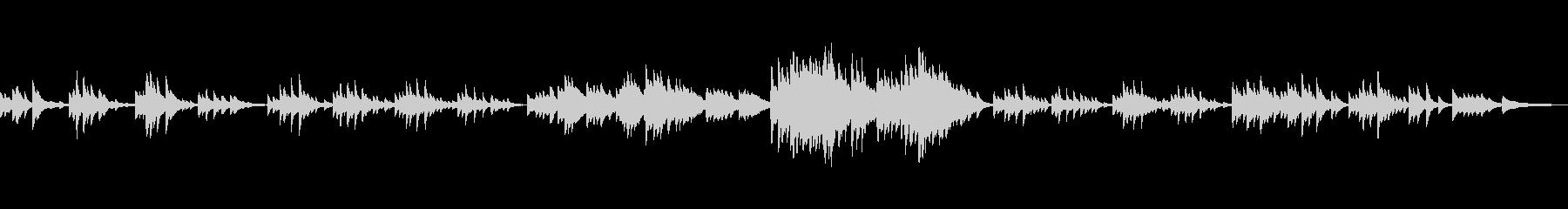C=528Hz 癒しのソロ・ピアノの未再生の波形