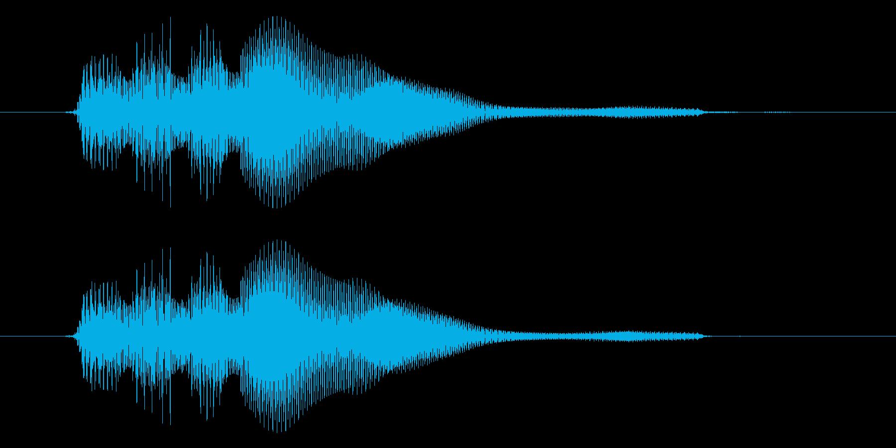パラランッ。 アップ音。の再生済みの波形