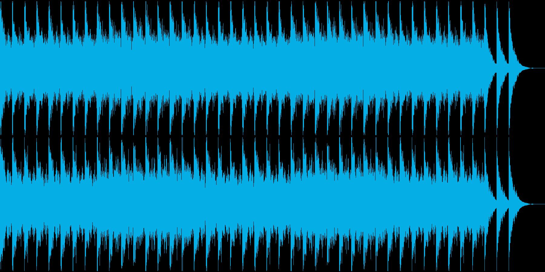 ノイズが不気味なBGMの再生済みの波形