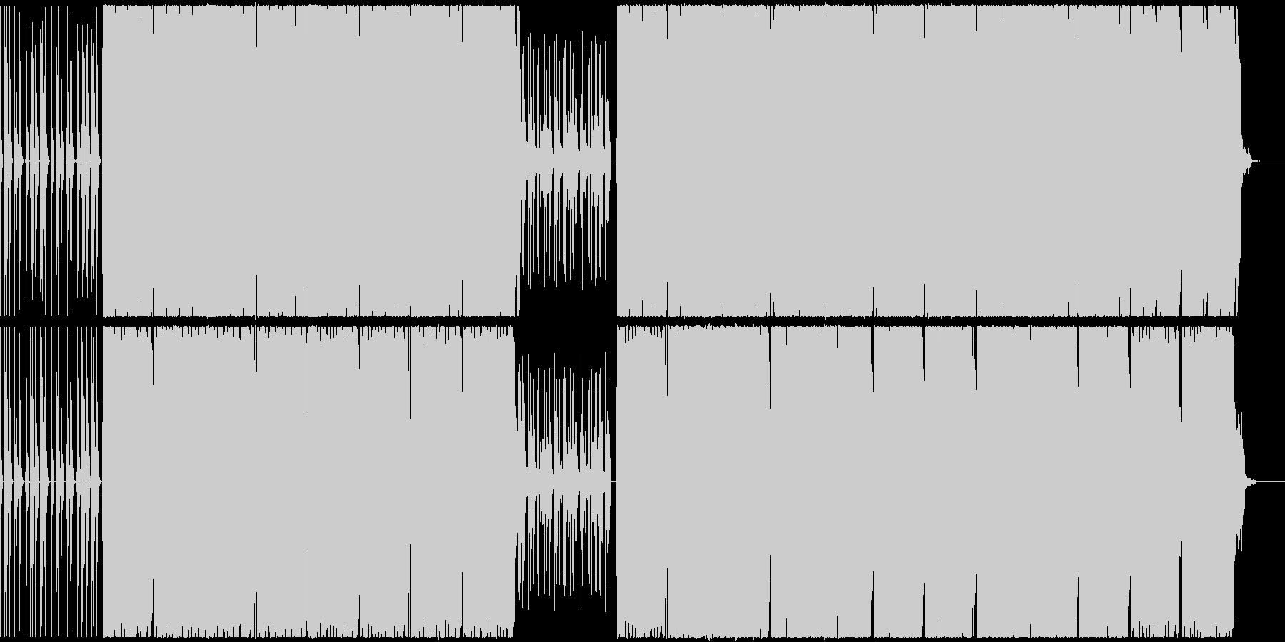 浮遊感あるサウンドのHIPHOPビートの未再生の波形