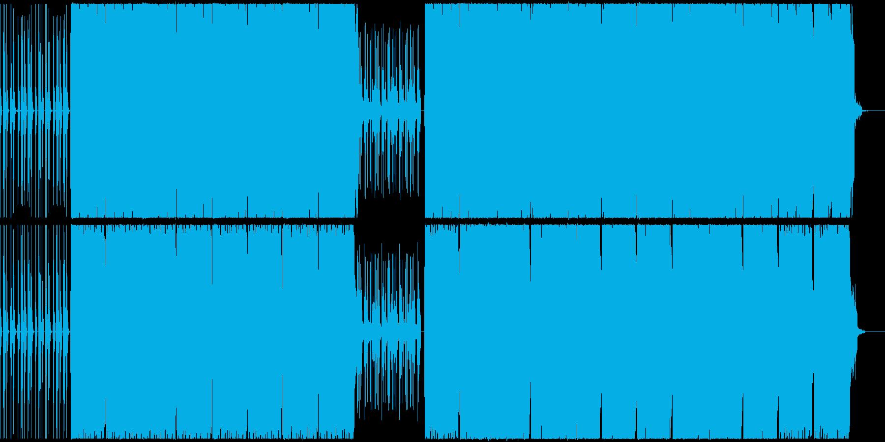 浮遊感あるサウンドのHIPHOPビートの再生済みの波形