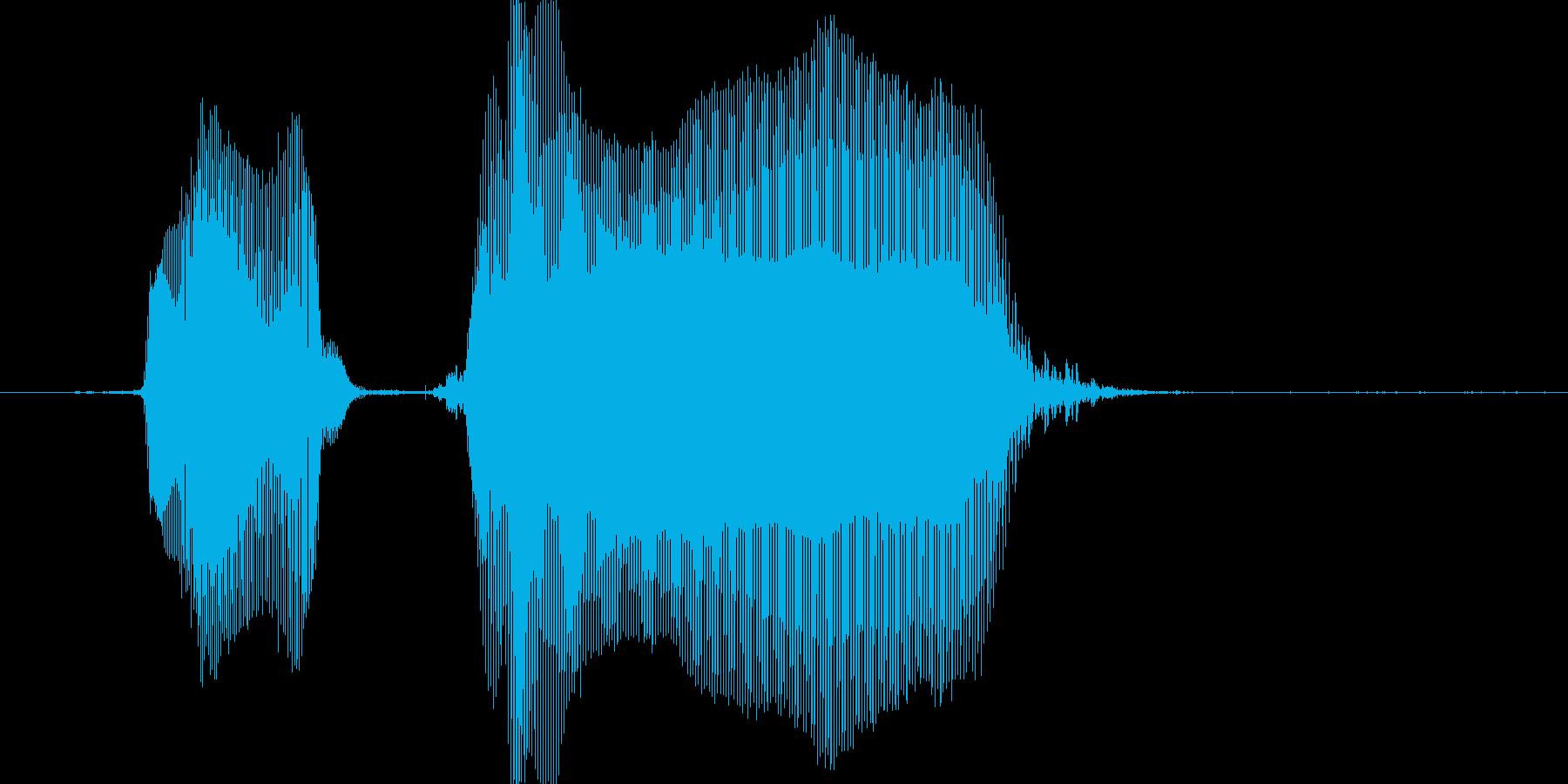 あちゃ〜の再生済みの波形