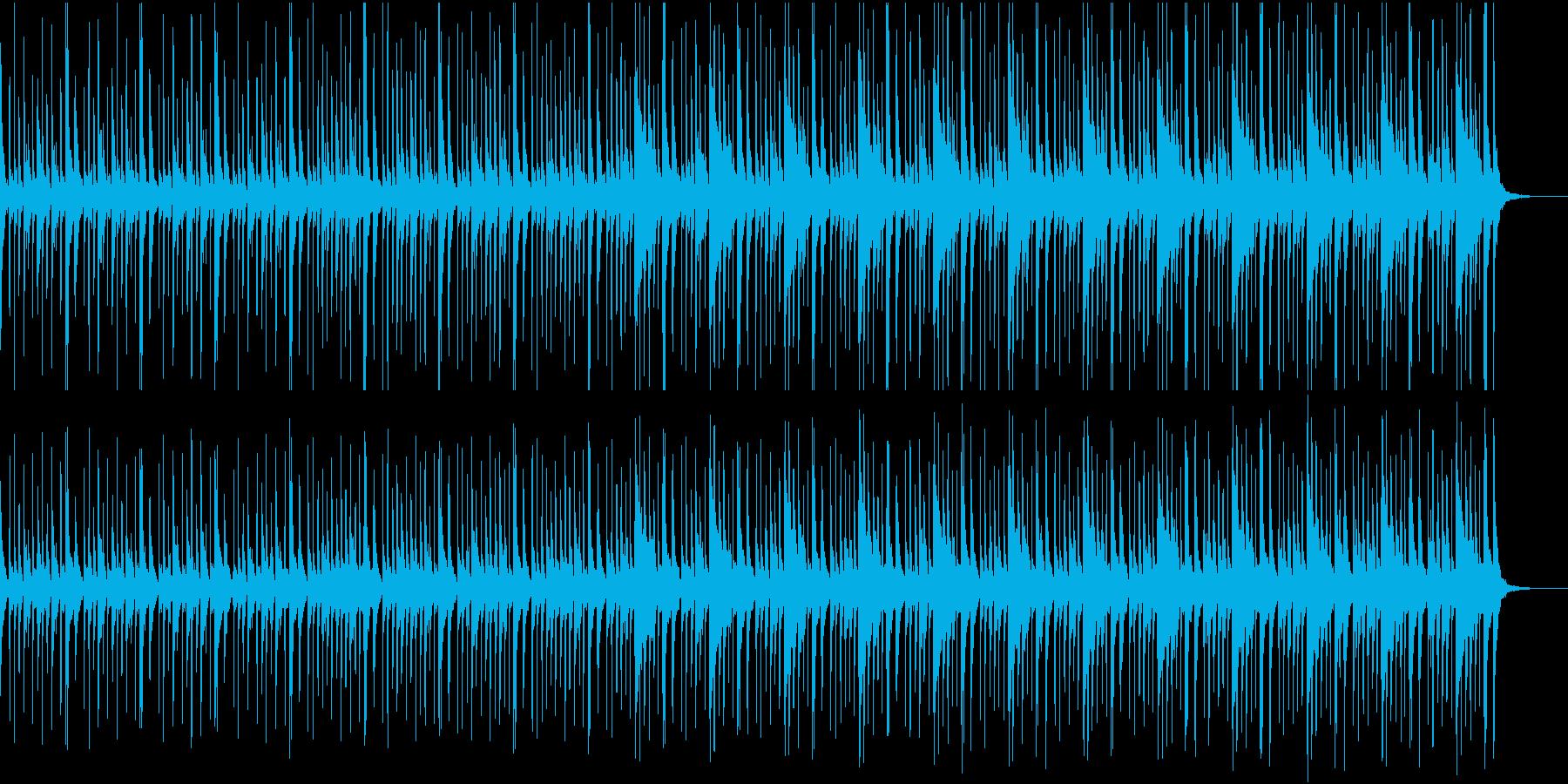 映像用、ラテンパーカッションのみの曲の再生済みの波形