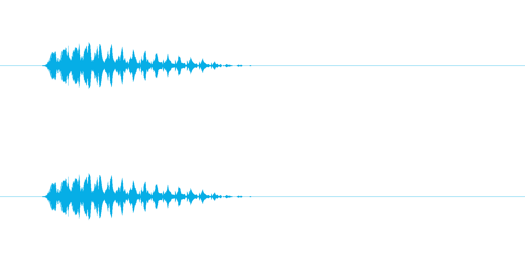【ショートブリッジ12-1】の再生済みの波形