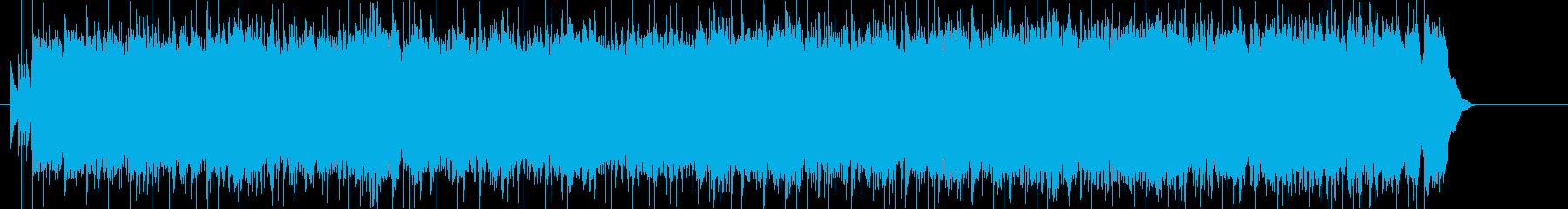 爽やかで疾走感のあるポップロックの再生済みの波形