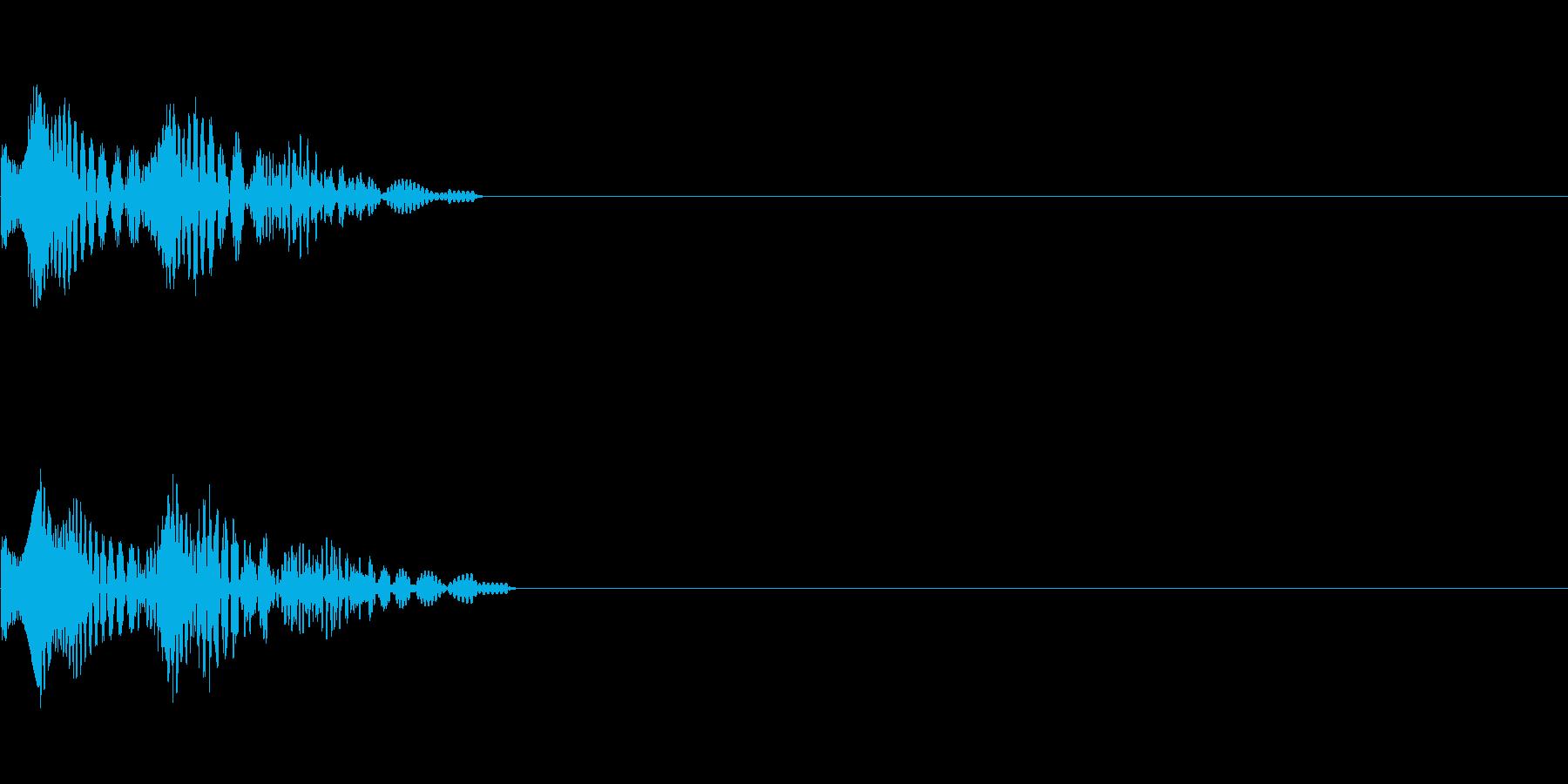 【ピロン】選択音 クリック タッチ 操作の再生済みの波形