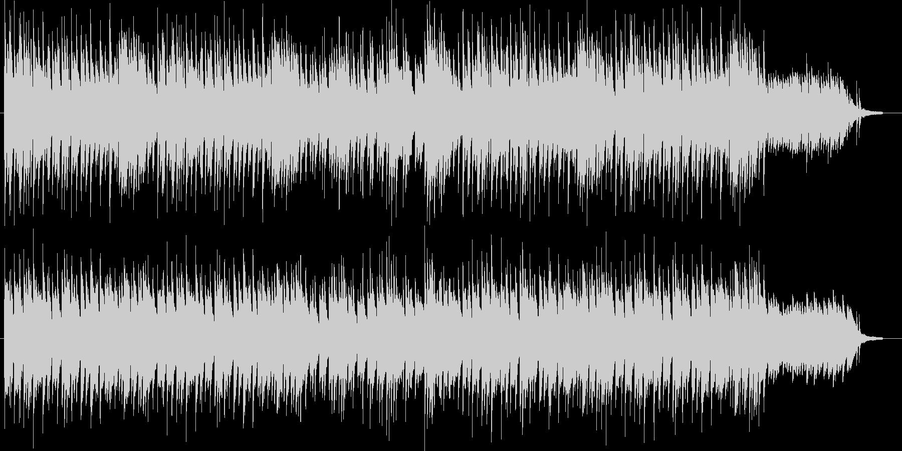 シリアスで切なげな雰囲気のピアノソロの未再生の波形