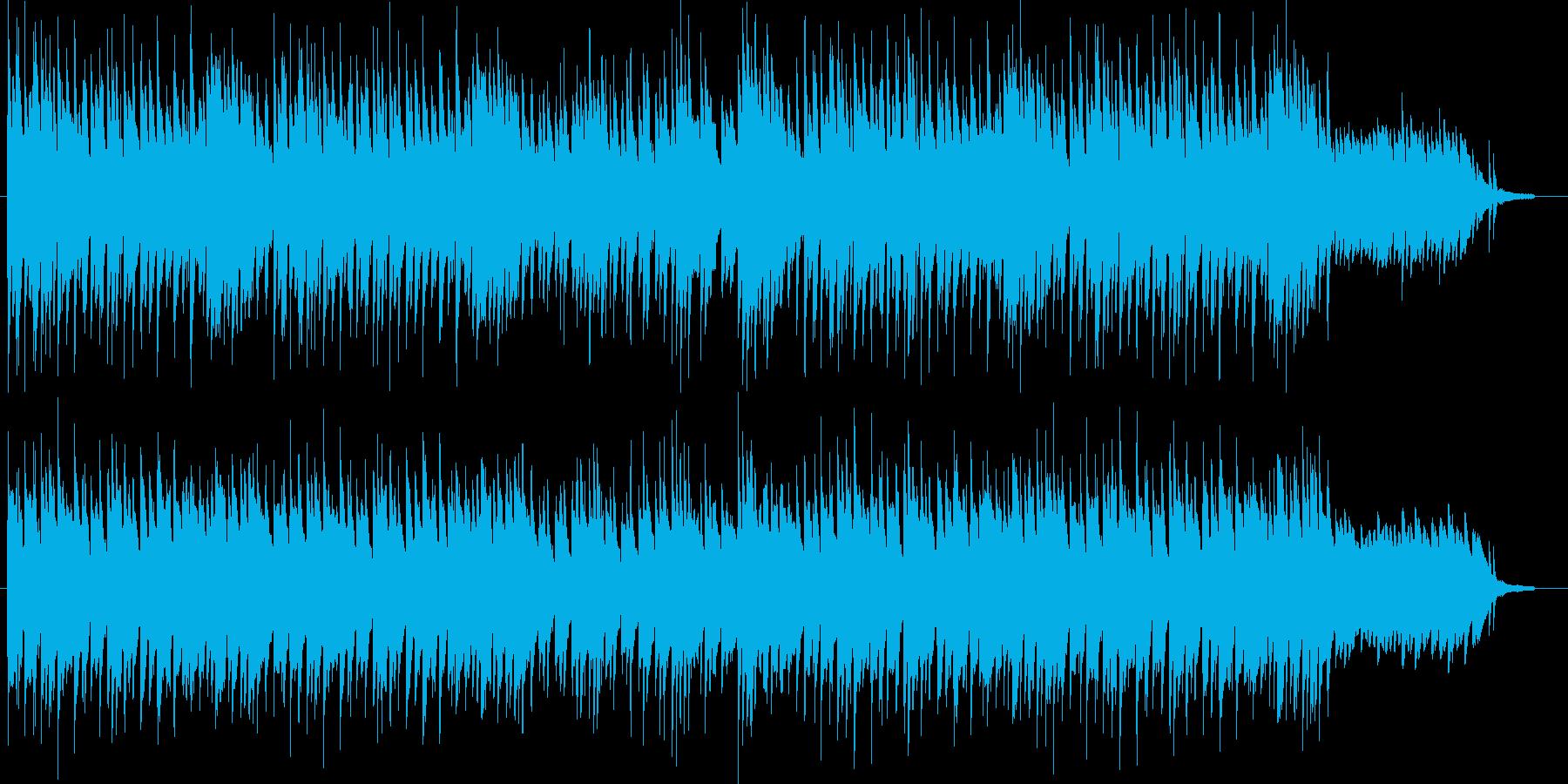 シリアスで切なげな雰囲気のピアノソロの再生済みの波形