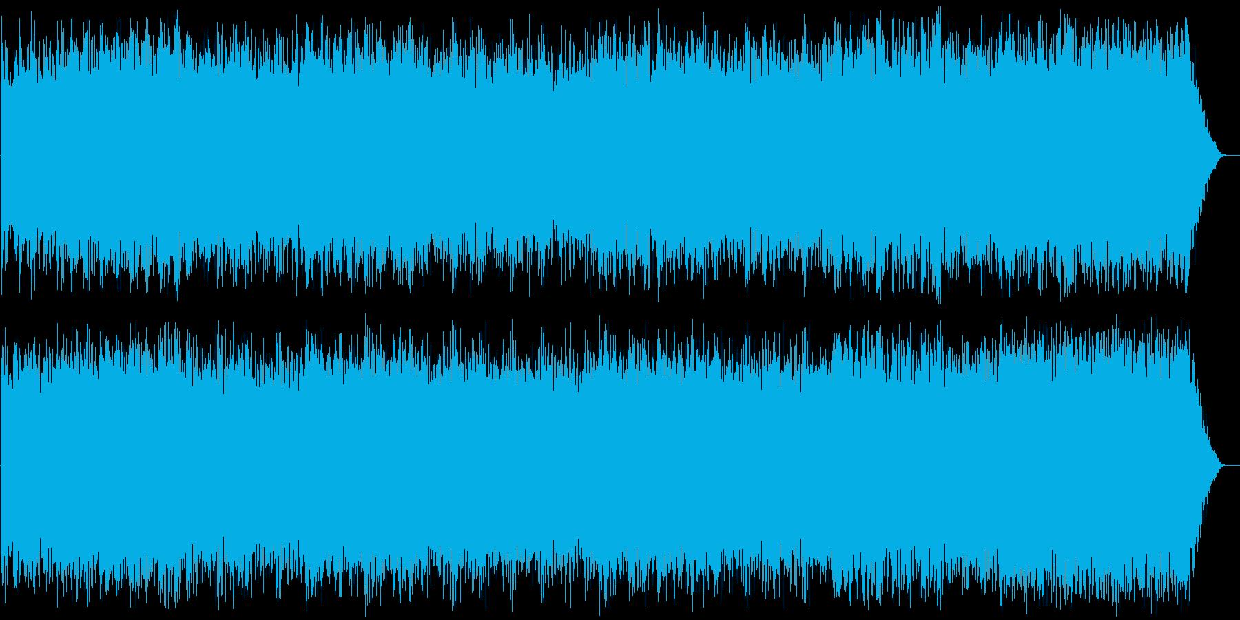 疾走感のある情熱的なテクノの再生済みの波形