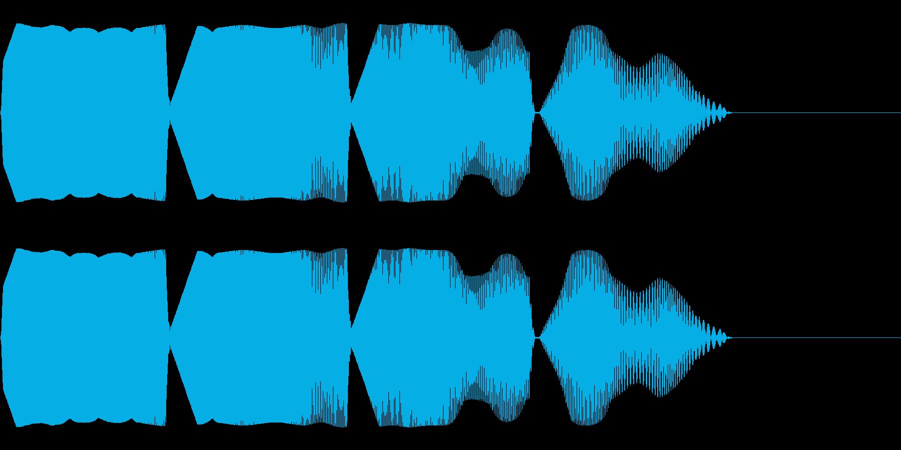 目を回すような効果音(混乱/パニック)の再生済みの波形