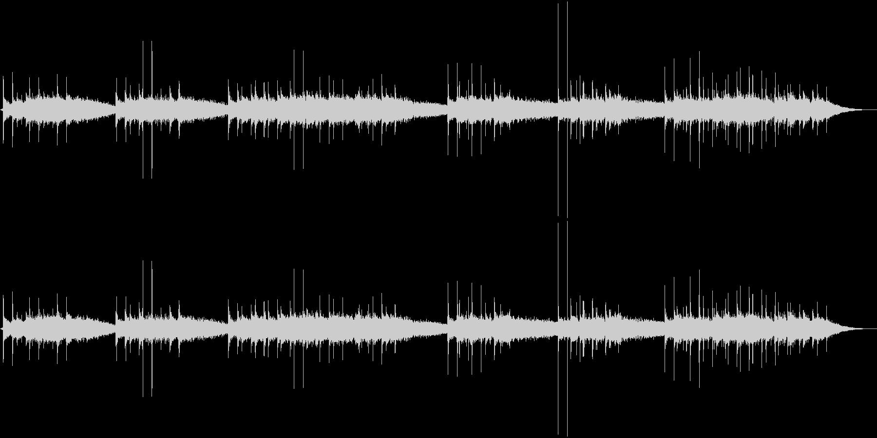 カリンバにエフェクトをかけた、ふわふわ…の未再生の波形