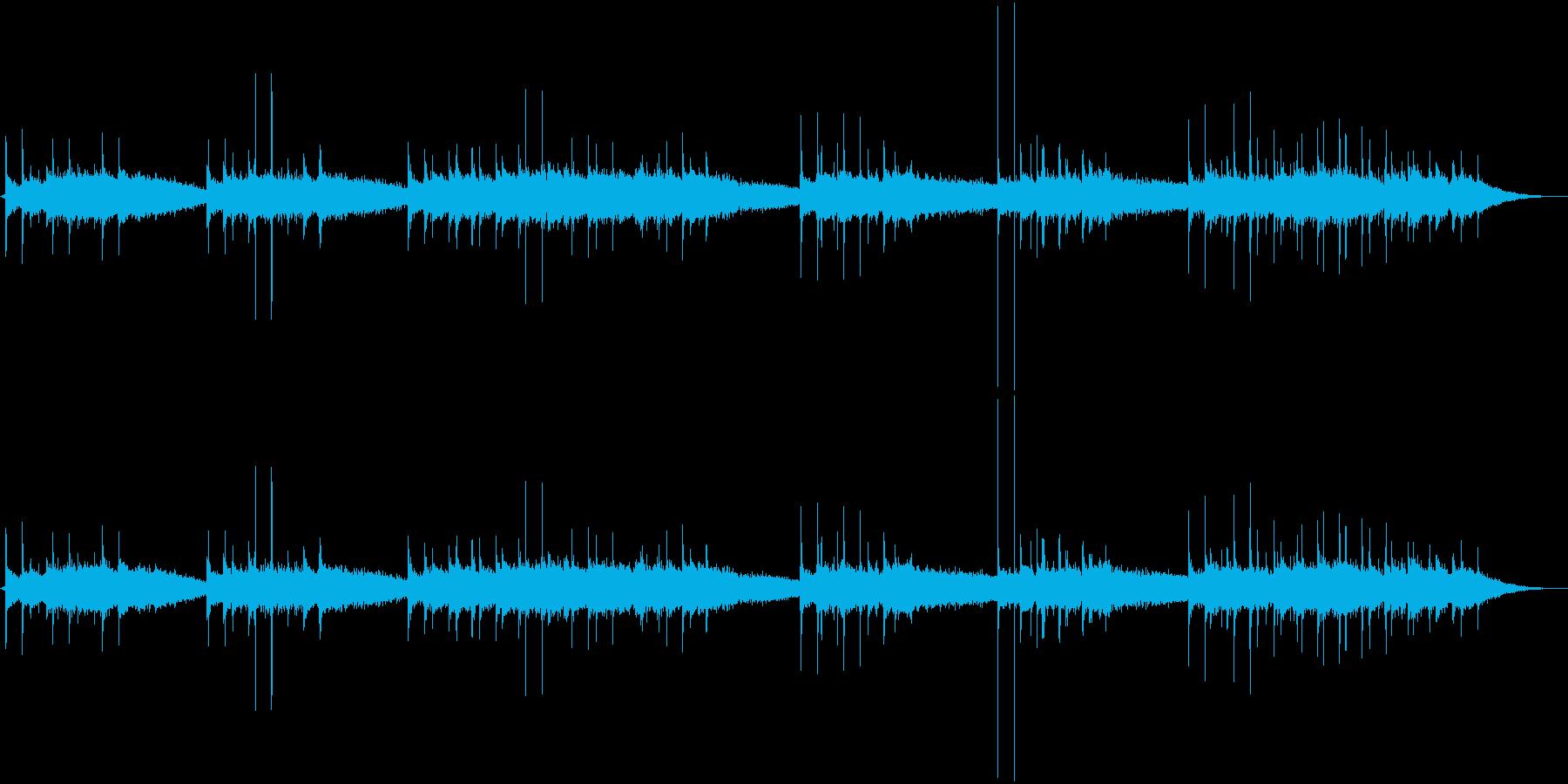 カリンバにエフェクトをかけた、ふわふわ…の再生済みの波形