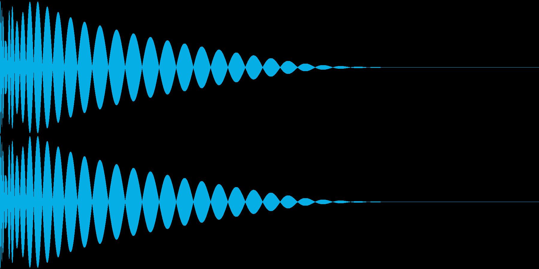DTM Kick 69 オリジナル音源の再生済みの波形