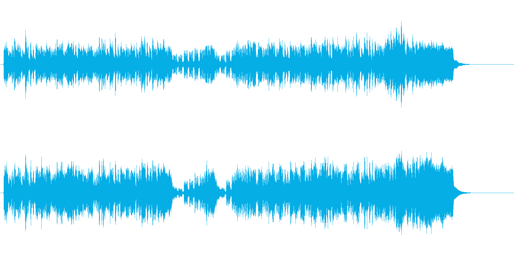 ロイヤルテイストなイメージ向けの再生済みの波形