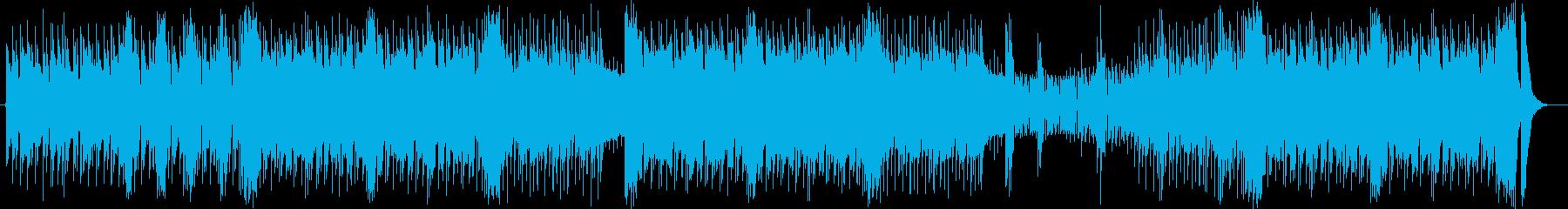 ヘビーでスピーディなエレキロックサウンドの再生済みの波形