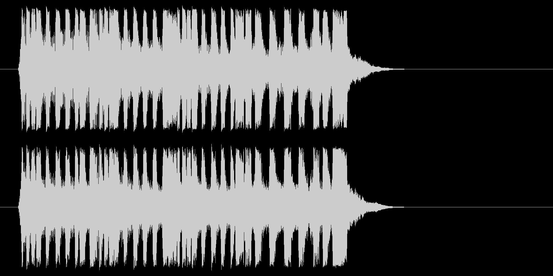 挑戦的 場面転換 オープニング 登場の未再生の波形