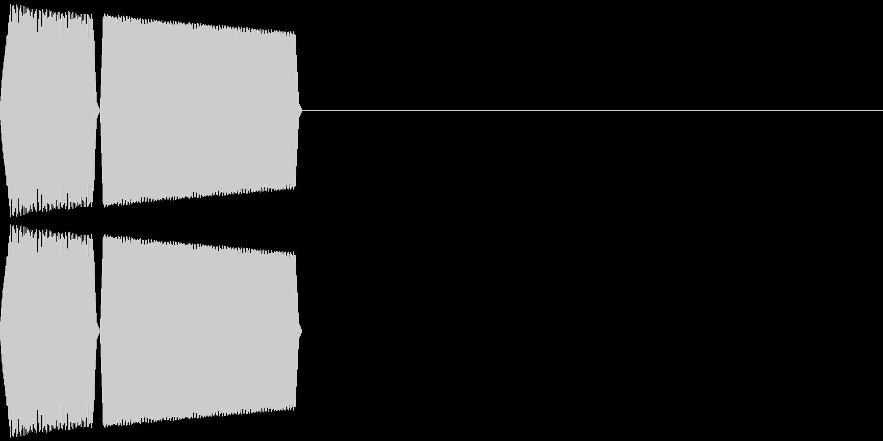 ボタン・カーソル・操作音 「ピロッ」の未再生の波形