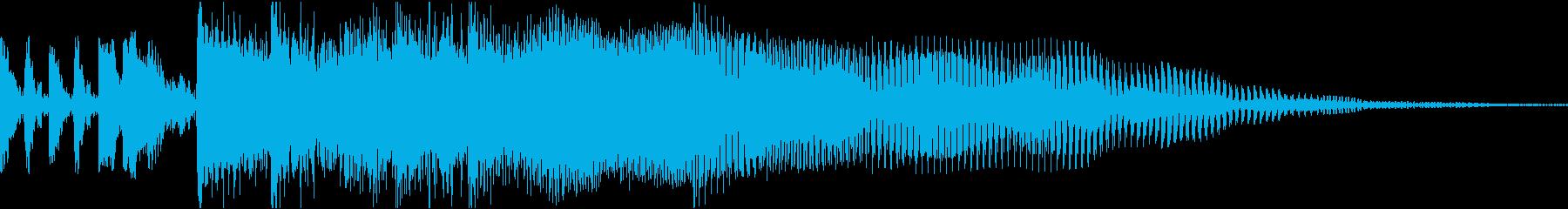 ロック調のサウンドロゴの再生済みの波形