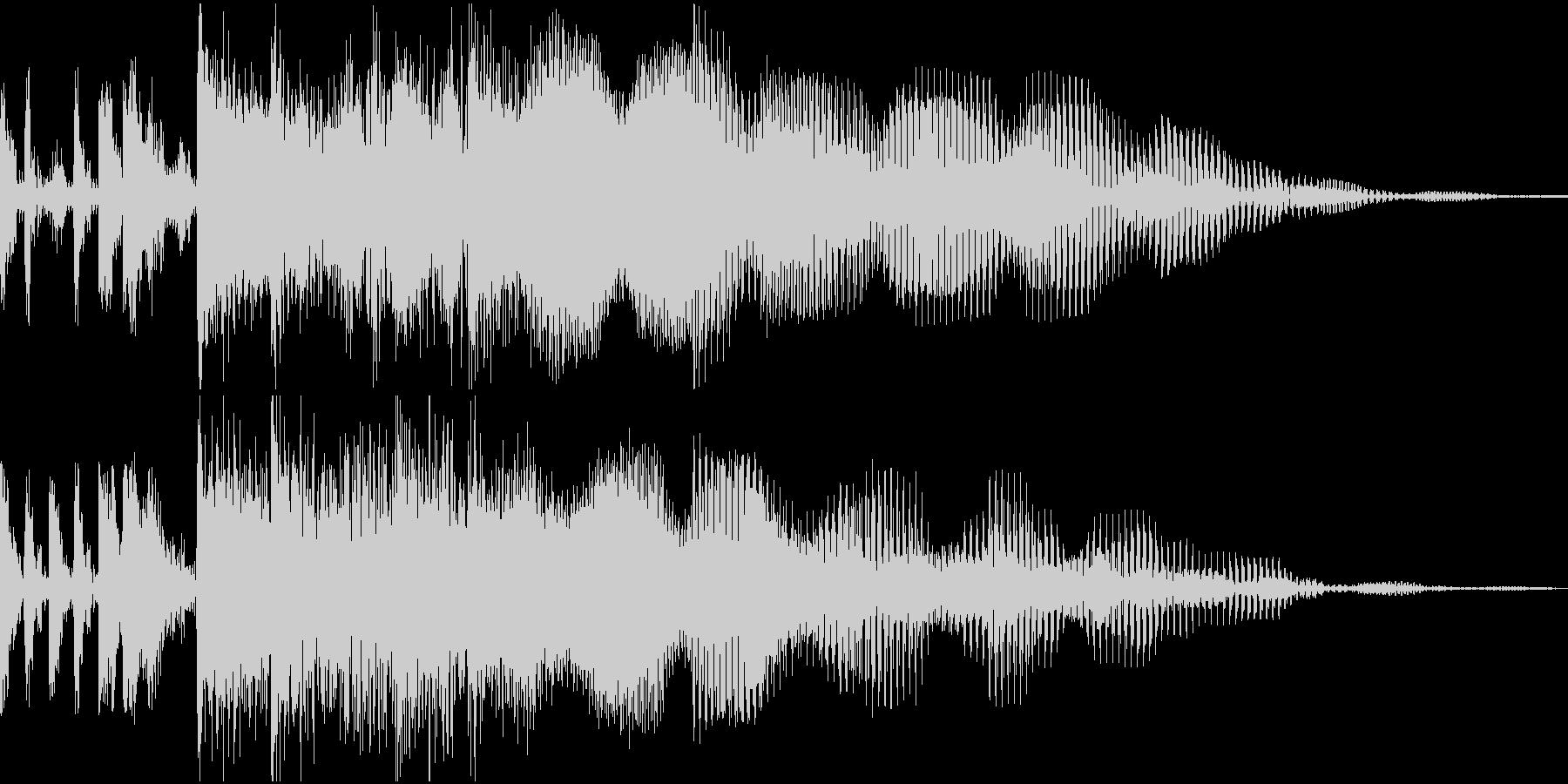 ロック調のサウンドロゴの未再生の波形