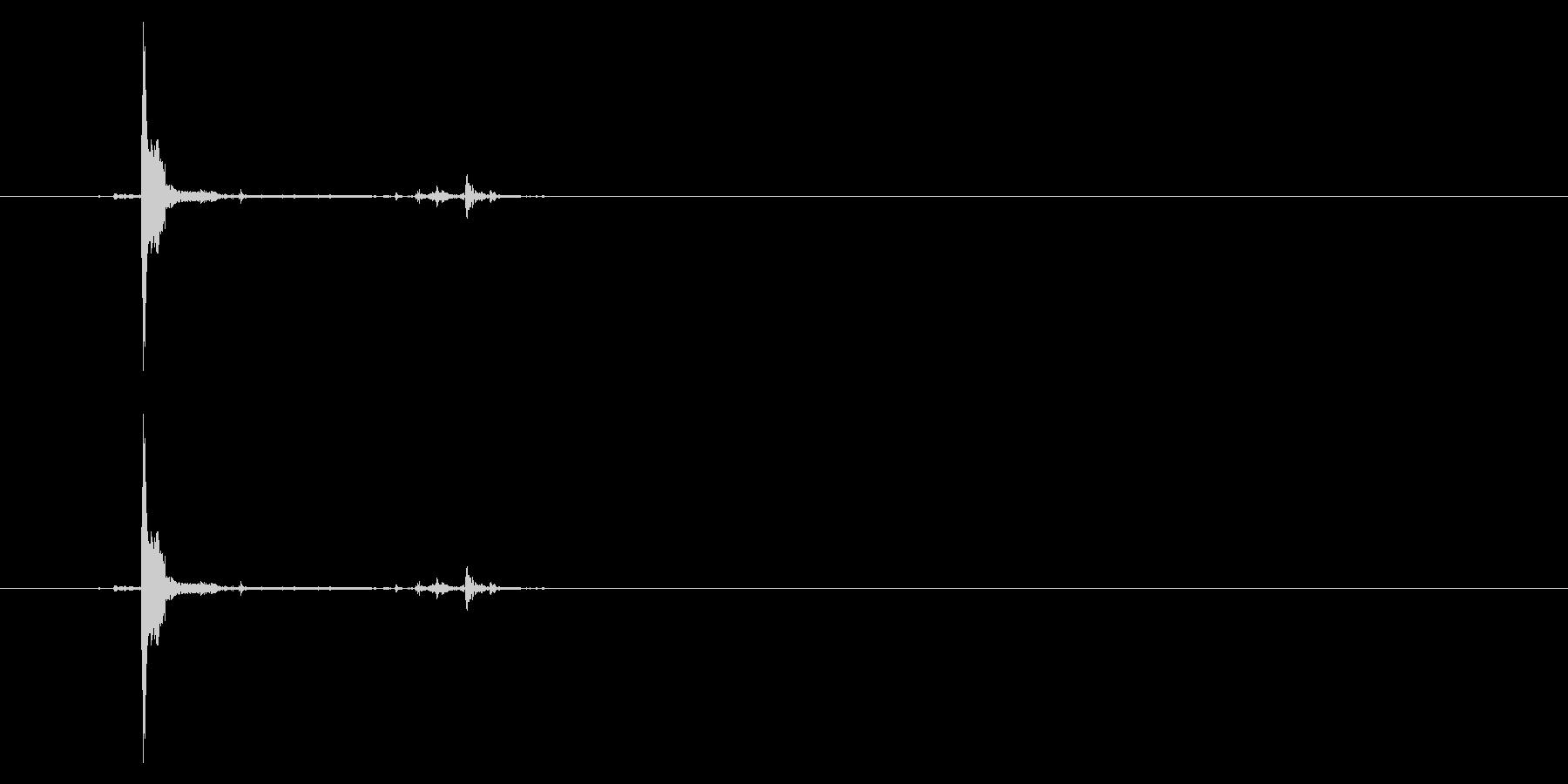 ポッチャン!池ポチャの音4の未再生の波形