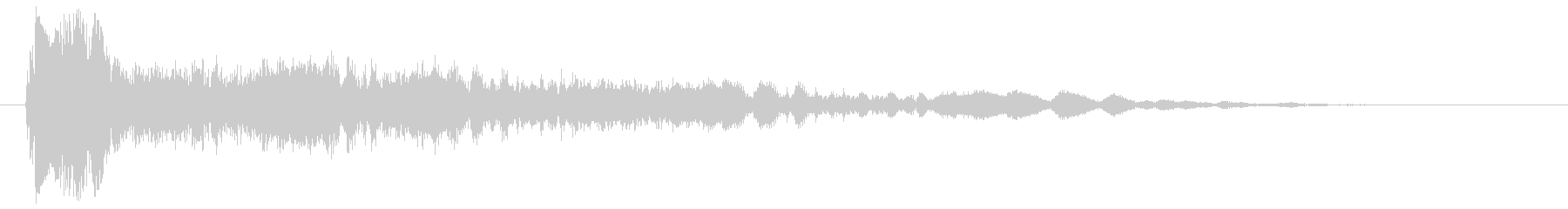 ビシューン(やや高めの音)の未再生の波形