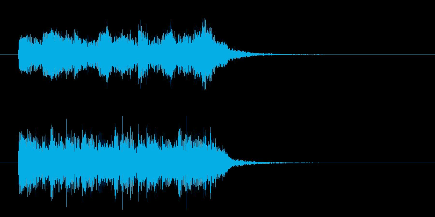 クラシカルなゲームオーバー ジングルの再生済みの波形