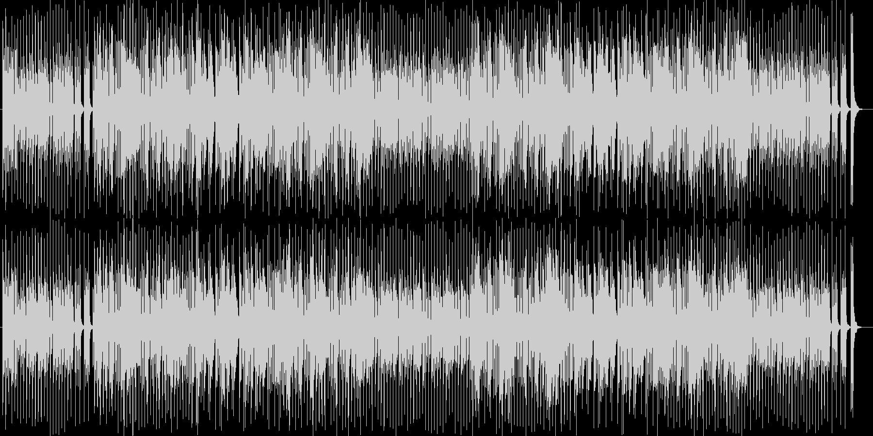 楽しくて笛の音色が可愛いBGMの未再生の波形