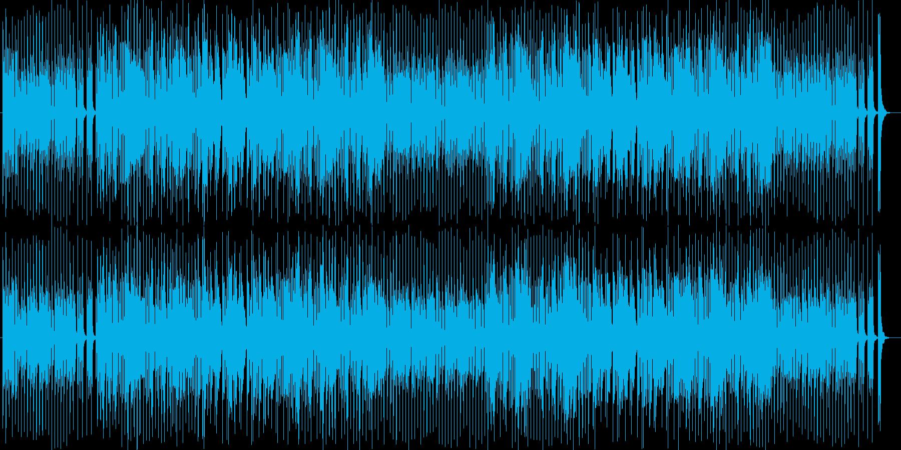 楽しくて笛の音色が可愛いBGMの再生済みの波形