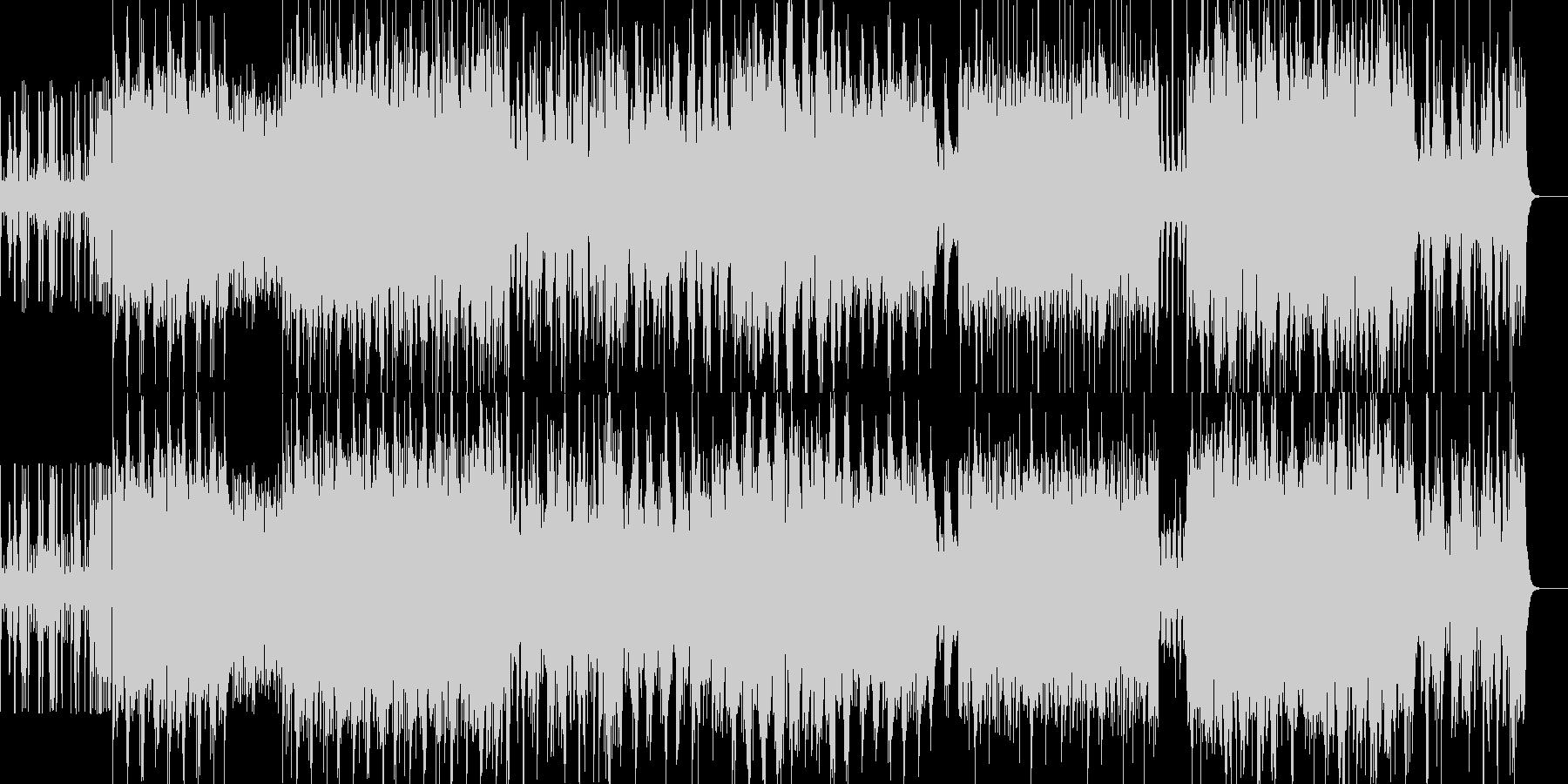 荘厳で激しいIDMの未再生の波形
