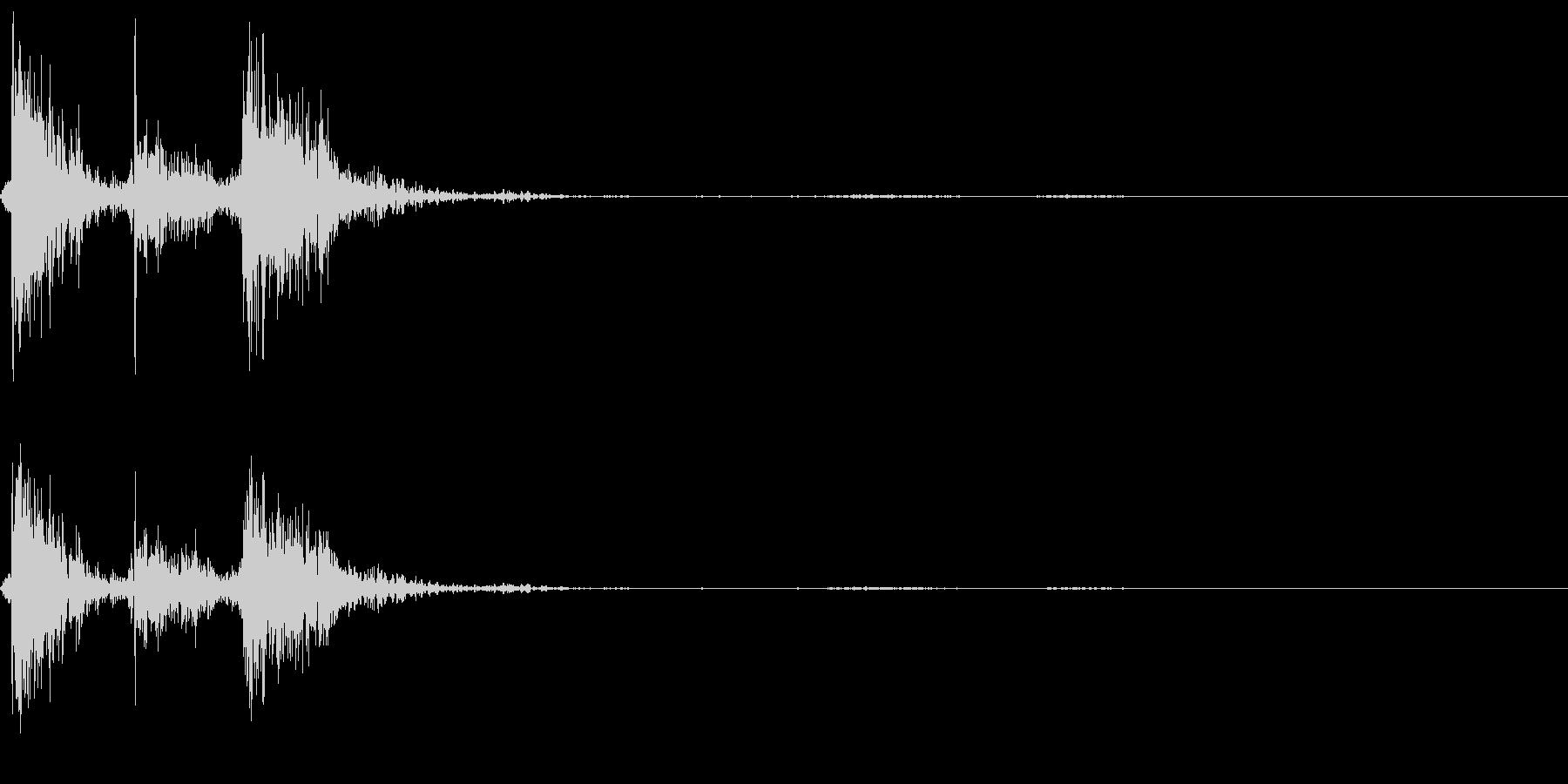 公衆電話の受話器を置く音の未再生の波形