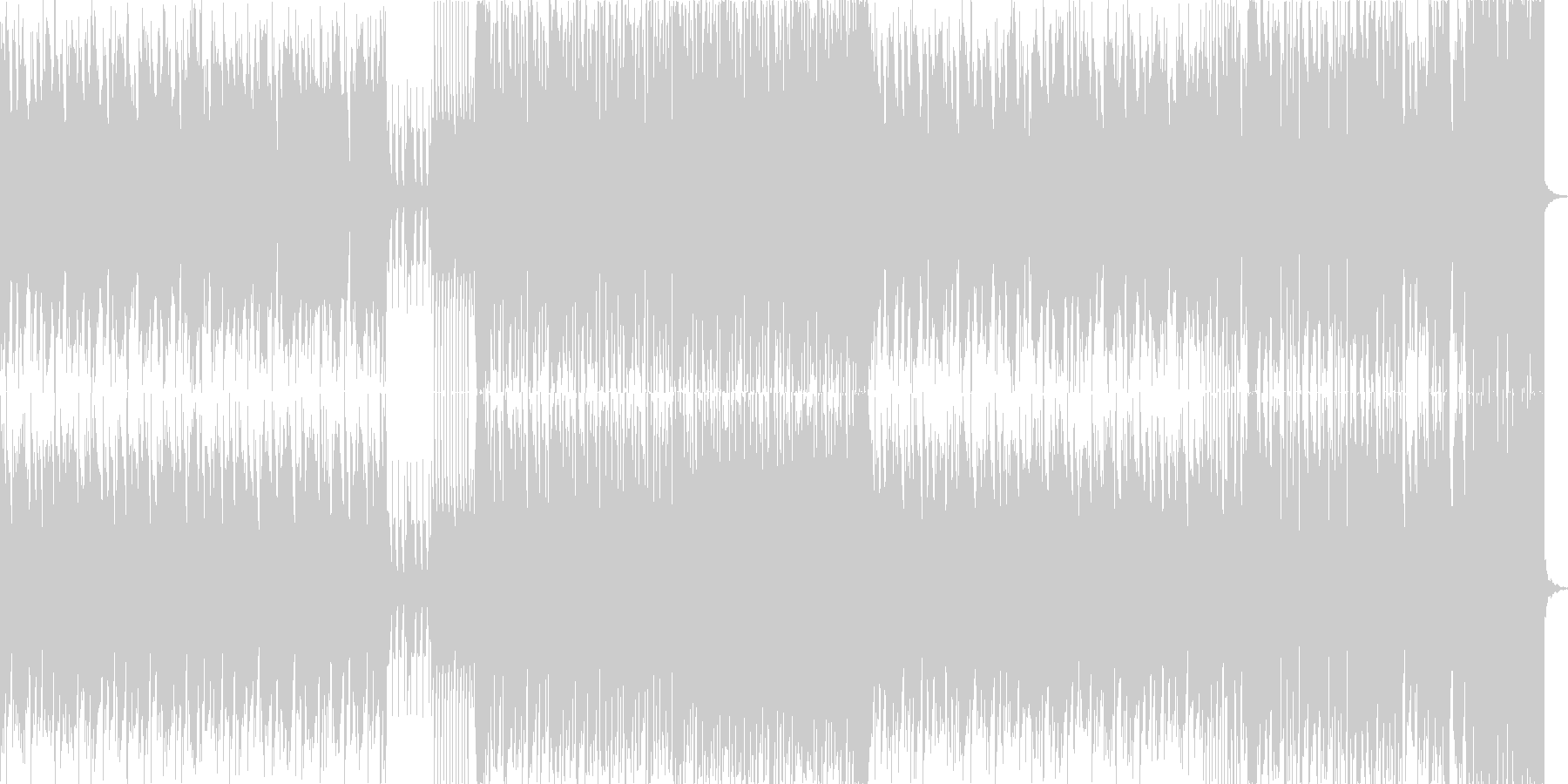 リード系シンセ音のPan振りが特徴的な曲の未再生の波形