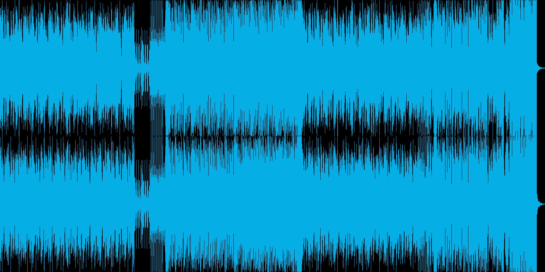 リード系シンセ音のPan振りが特徴的な曲の再生済みの波形