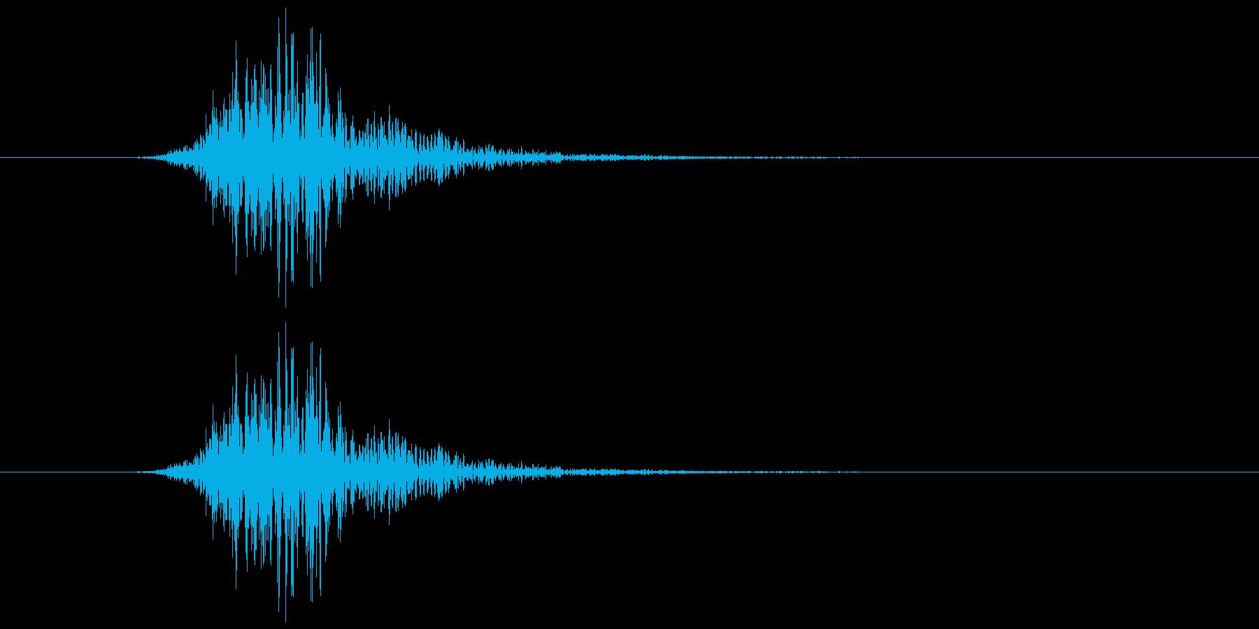 ブオンッ(空を切る音)の再生済みの波形