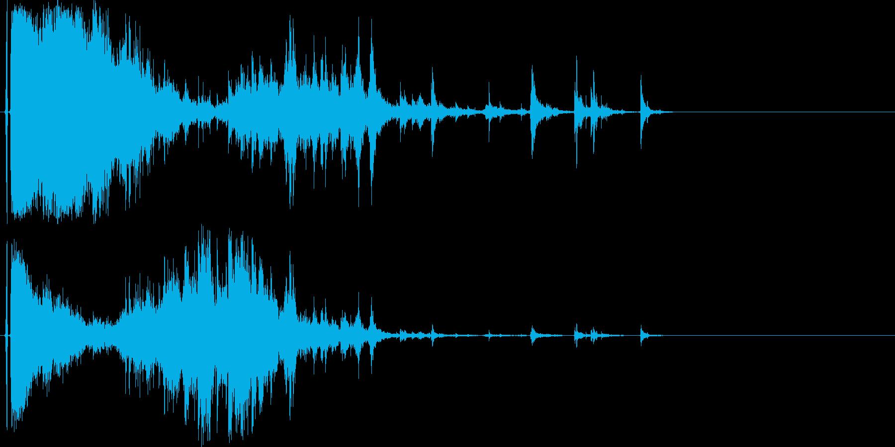 ガラスやグラスが勢いよく割れる効果音07の再生済みの波形