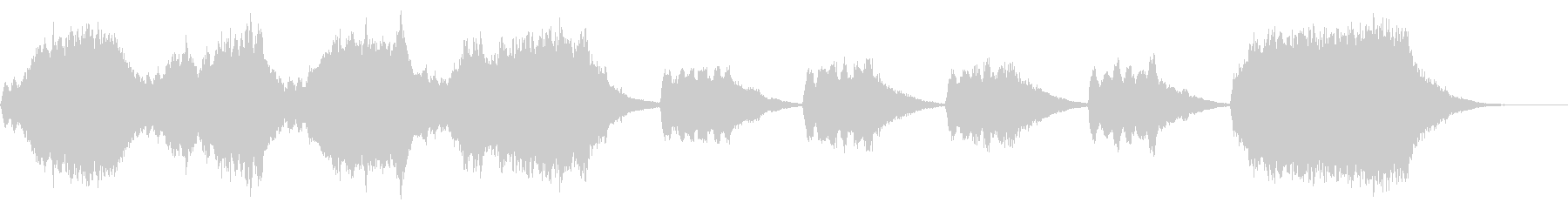 ストリングス系30秒ジングル「兆し」の未再生の波形