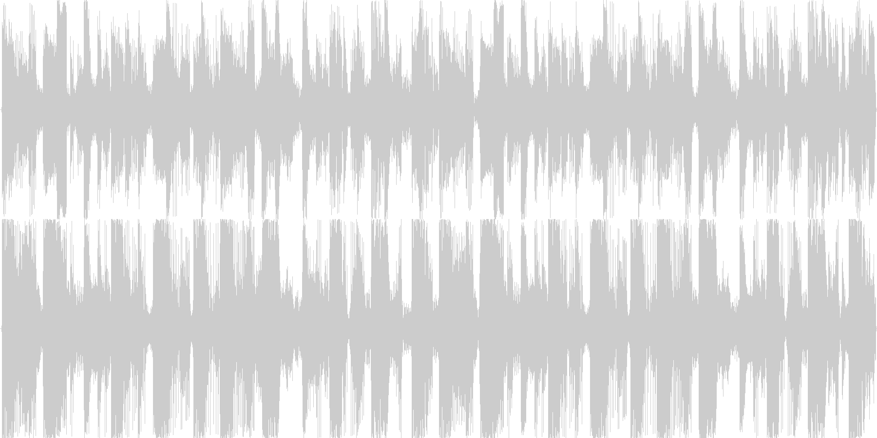 近未来 テクノジングル クールダウンの未再生の波形