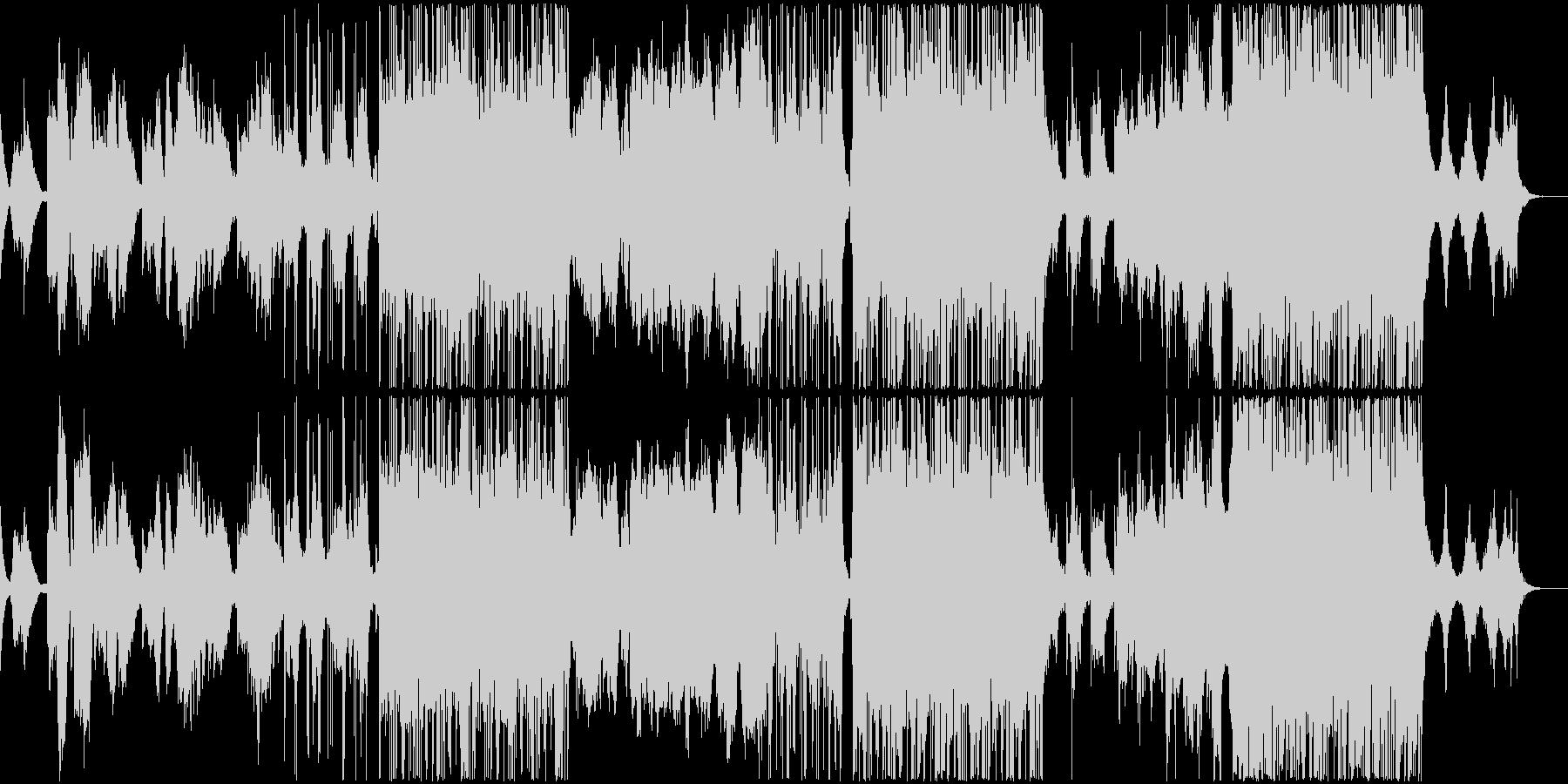 感情的で幻想的なポップバラードの未再生の波形