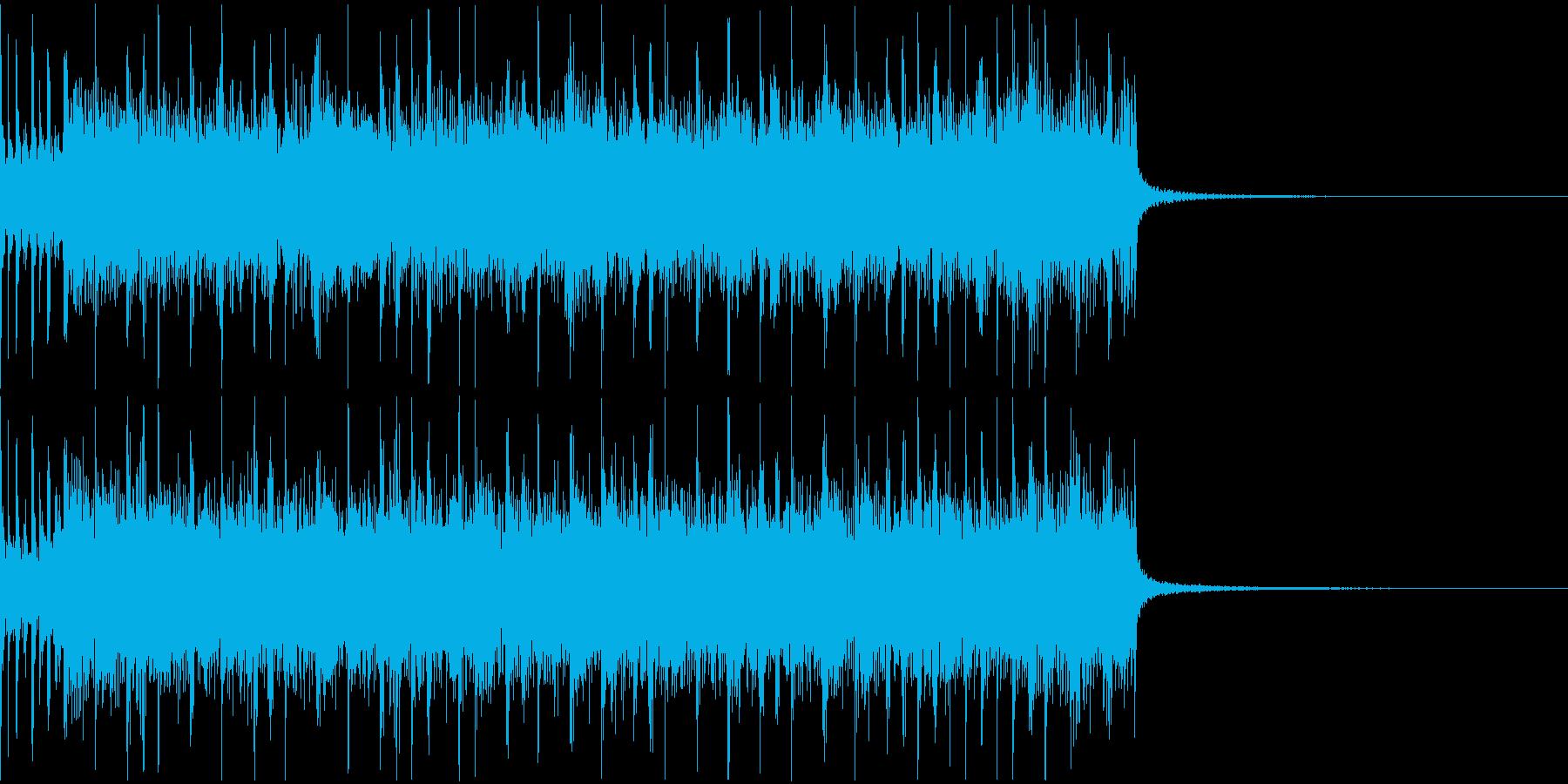 スピーディでシンプルなメタルリフジングルの再生済みの波形