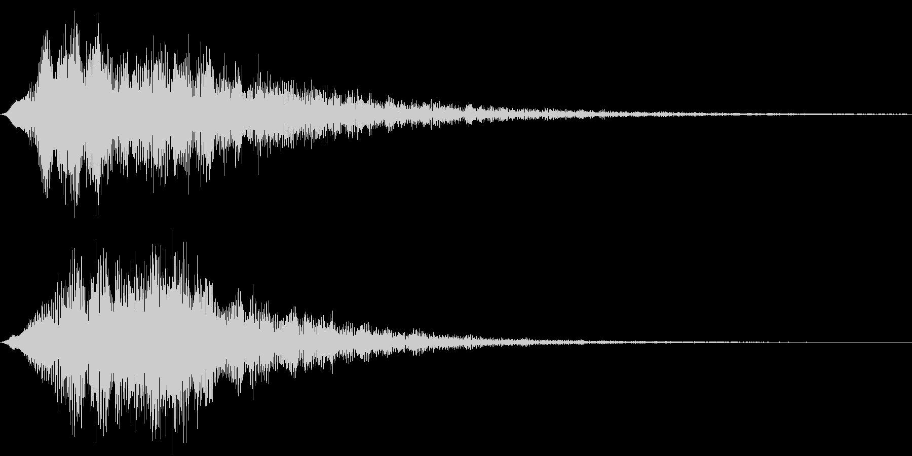 決定音(Synth Pad)の未再生の波形