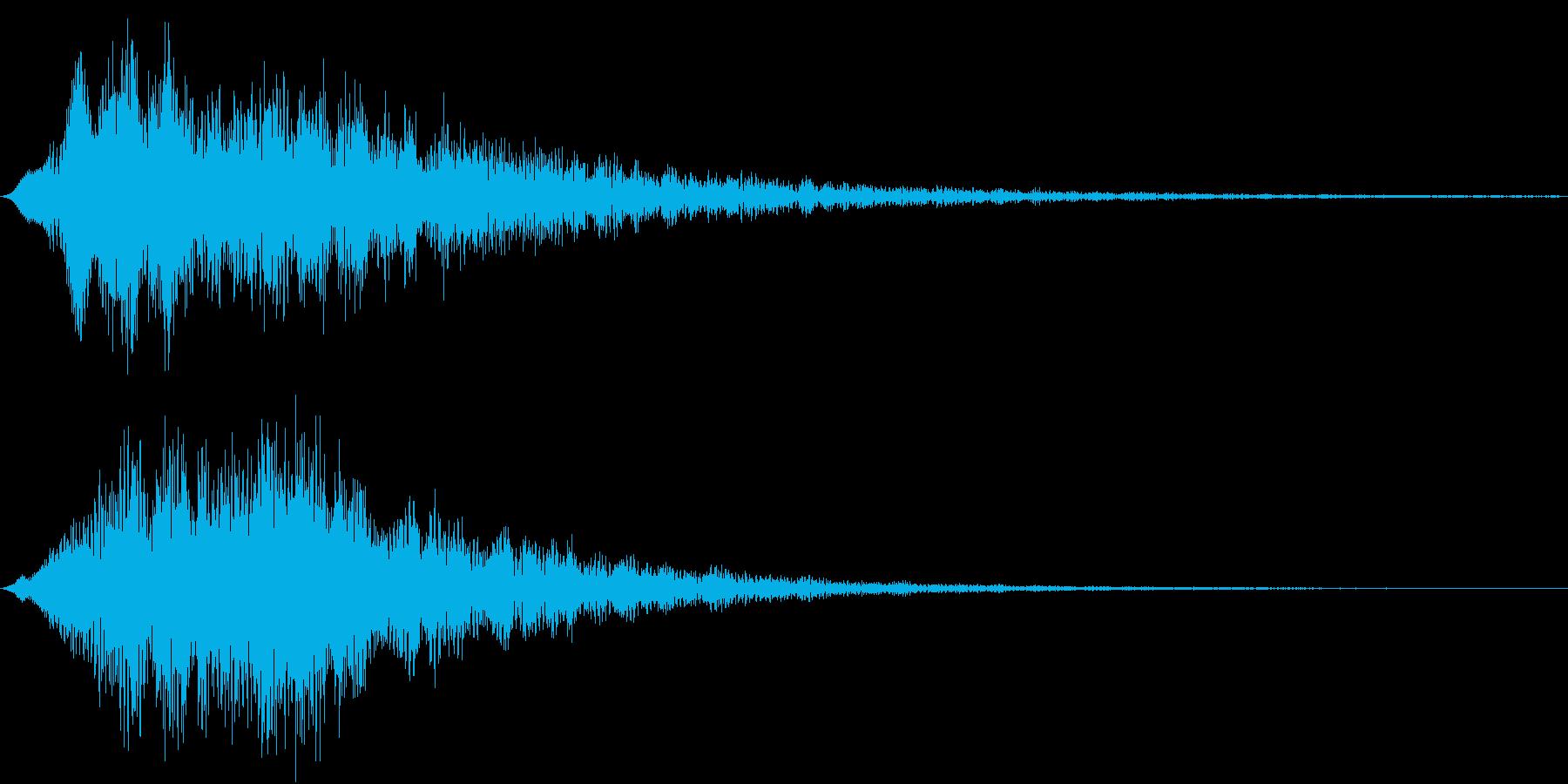 決定音(Synth Pad)の再生済みの波形