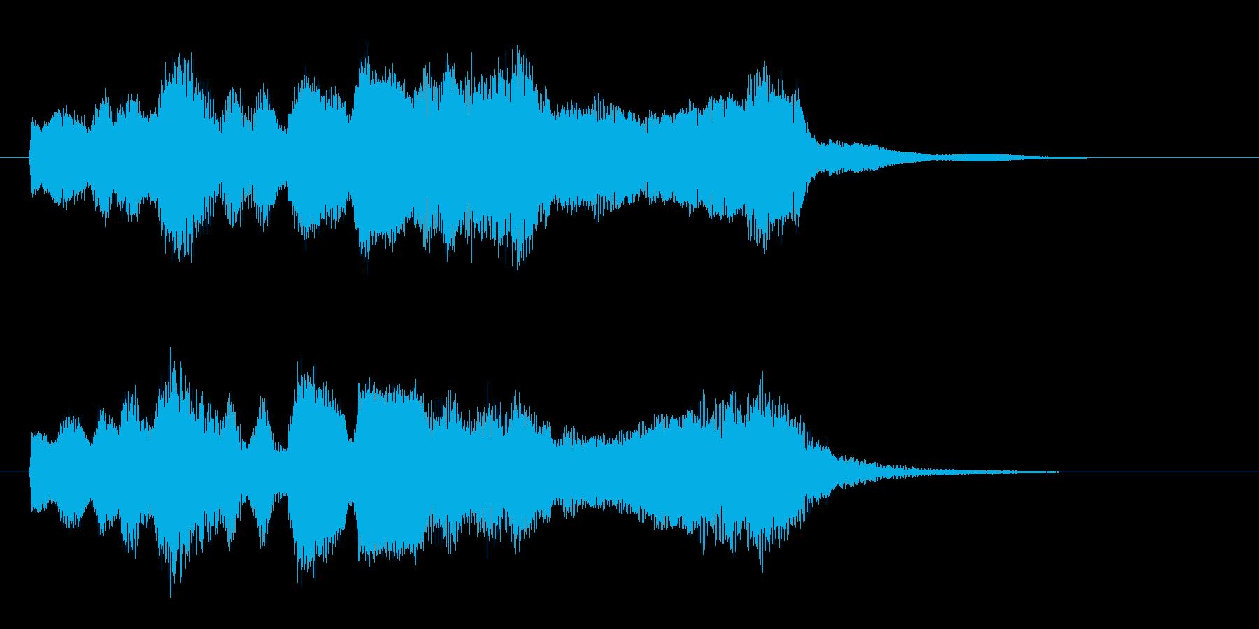 【ジングル】朝を感じさせるオーケストラ曲の再生済みの波形