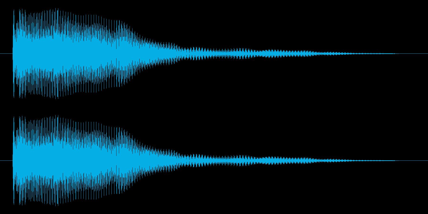 パァ~ン~(チョーキング)の再生済みの波形
